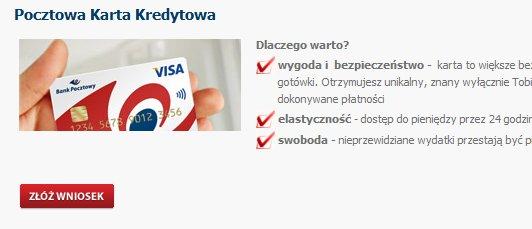 Bank Pocztowy Karta kredytowa