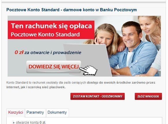 Bank Pocztowy konto osobiste