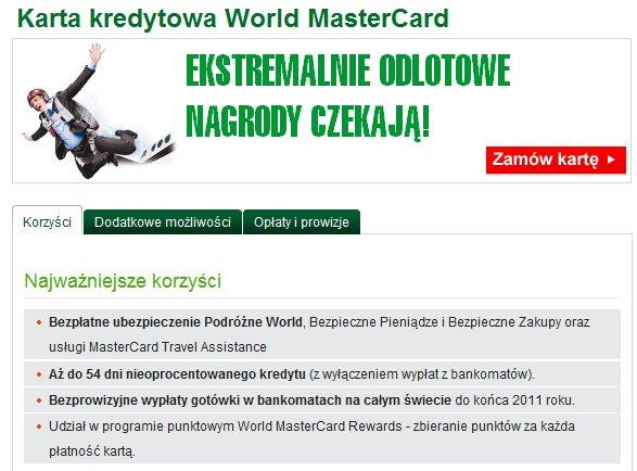 BZ WBK Karta kredytowa World MasterCard