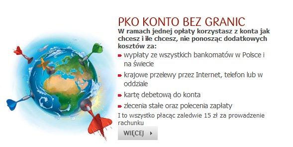 PKO Konto bez granic